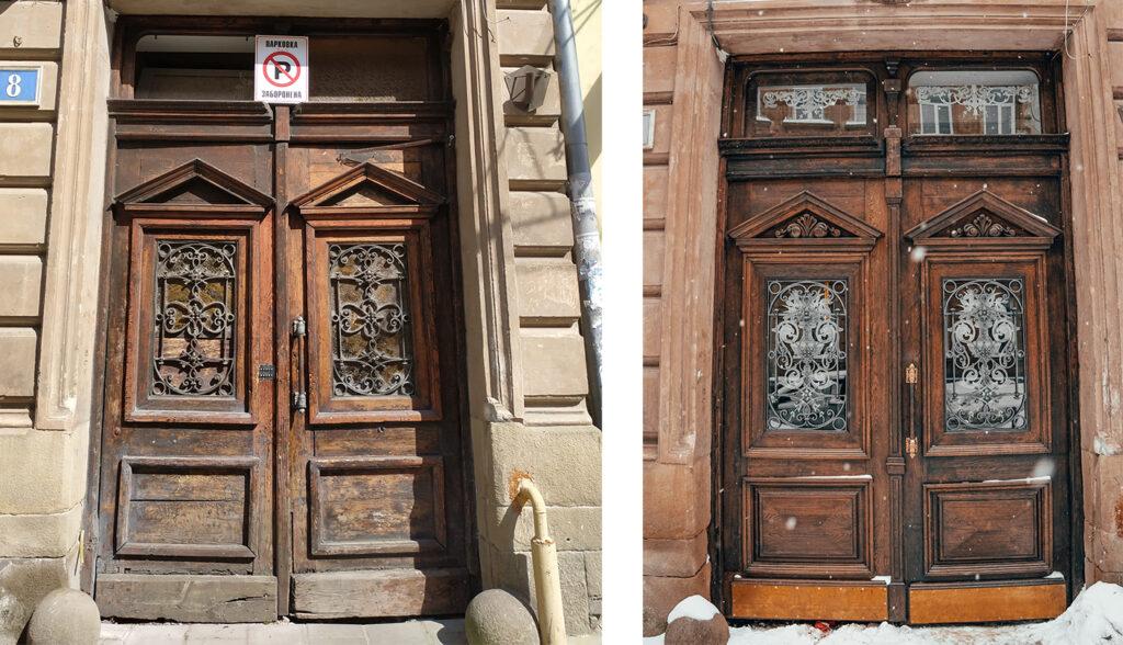 u tsentri lvova vidrestavruvaly karetnu bramu na vulytsi kotryaskiy 04 1024x588 - У центрі Львова відреставрували каретну браму на вулиці Котлярській