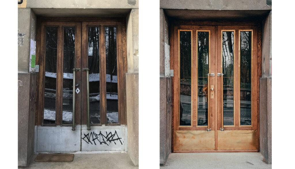 restavratory vidnovyly istorychni dveri poblyzu akademiyi sukhoputnykh viysk 05 1024x588 - Реставратори відновили історичні двері поблизу Академії сухопутних військ
