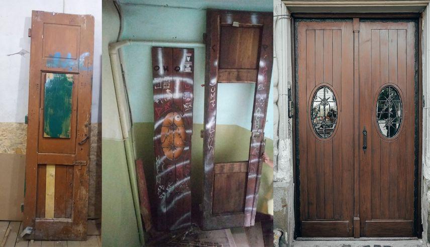 na ploshchi rynok vidrestavruvaly istorychni derevyani dveri 03 - На площі Ринок відреставрували історичні дерев'яні двері