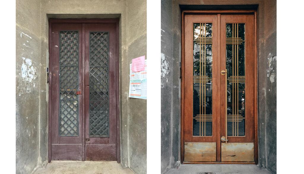 restavratory vidnovyly istorychni dveri budynku na vulytsi zakhariyevycha 05 1024x588 - Реставратори відновили історичні двері будинку на вулиці Захарієвича