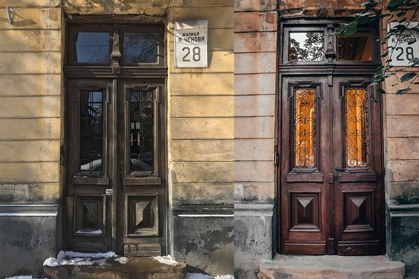 restavratory vidnovyly istorychni dveri poblyzu viyskovoho shpytalyu na lychakivskiy 06 - Реставратори відновили історичні двері поблизу військового шпиталю на Личаківській